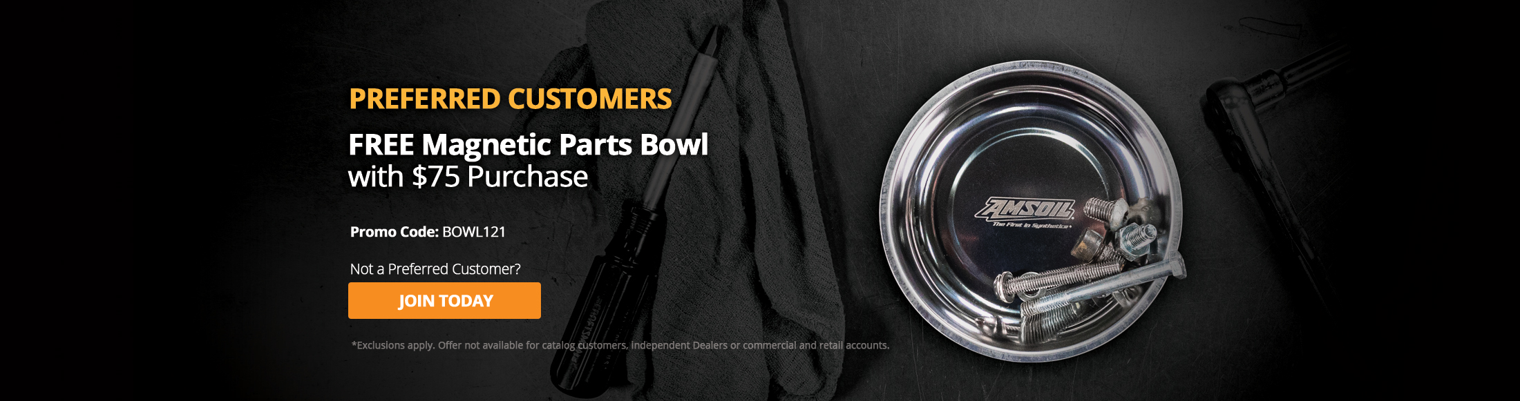 Free Magnetic Parts Bowl with $75 Purchase