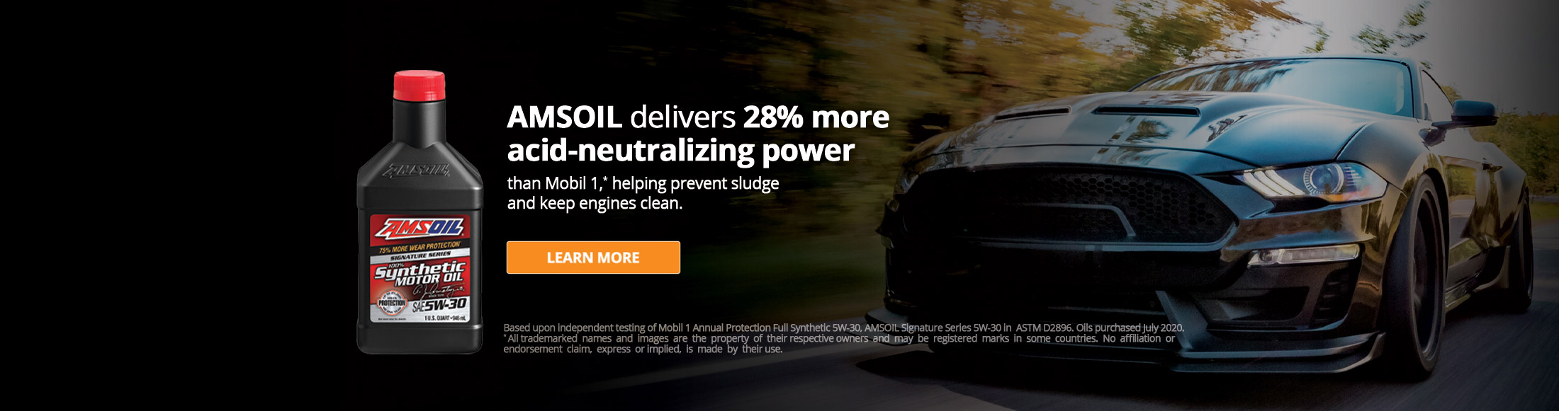 AMSOIL Delivers 28% more acid-neutralizing power