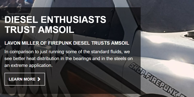Diesel Enthusiasts Trust AMSOIL