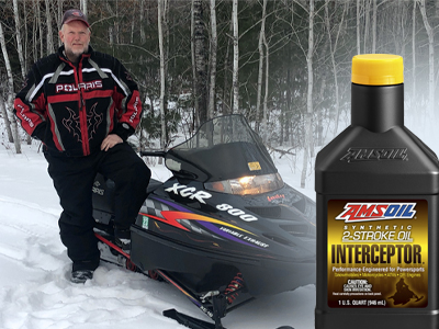AMSOIL INTERCEPTOR Powers 35,000-Mile Polaris Snowmobile