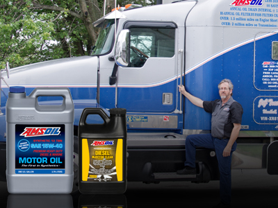 AMSOIL SAE 15W-40 Motor Oil and Diesel Injector Cleaner - 2 Million Mile Semi-truck