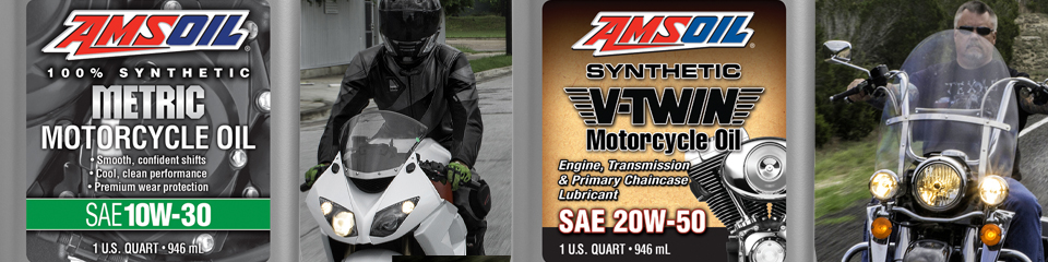 AMSOIL Metric Oil and AMSOIL V-Twin Oil