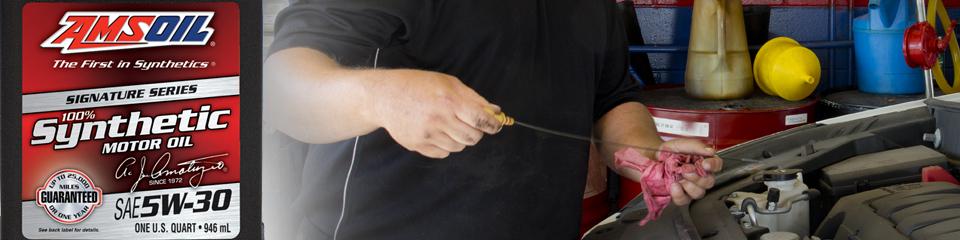 Longer Lasting AMSOIL Signature Series SAE 5W-30 Synthetic Motor Oil