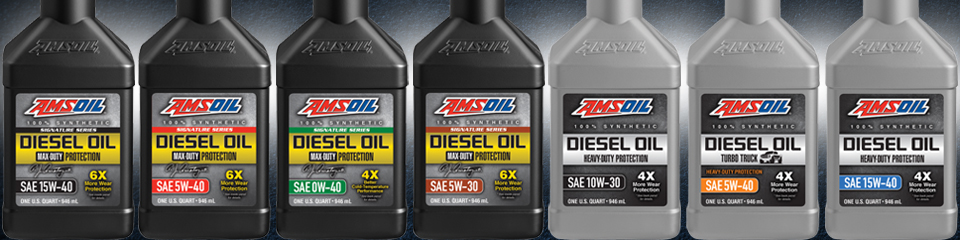 New AMSOIL Synthetic Diesel Oil Lineup
